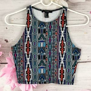FOREVER21 Tribal Crop Top
